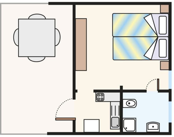 Plan domku Bungalow B2