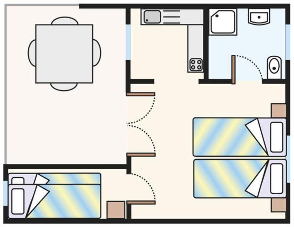 Plan domku Bungalow B4 KOMFORT