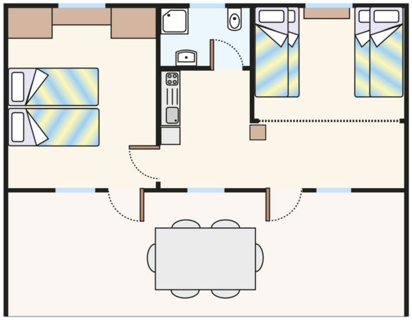 Plan domku Bungalow B6