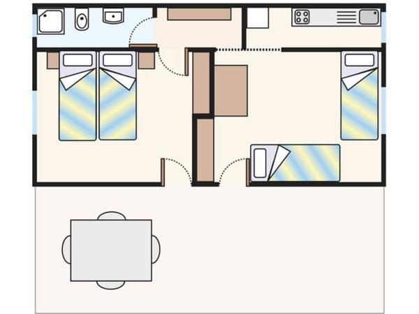 Plan domku Chalet C4/S