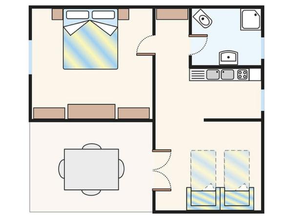 Plan domku Villini V4